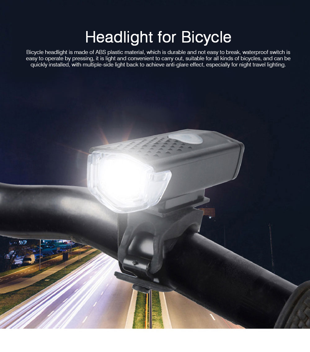 Mountain Bike Headlight Lamp ABS Material Trumpet USB Rechargeable Waterproof Lightweight Burner Three-speed Light Portable Headlight for Bicycle 0