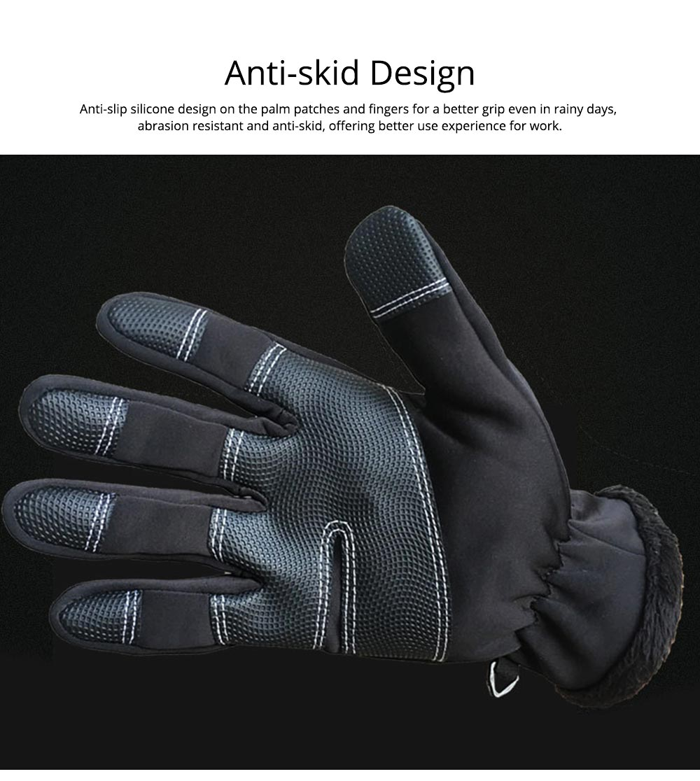 Winter Gloves Warm Waterproof Anti-wind Touch Screen Gloves for Running Hiking Climbing Skiing for Men Women 4