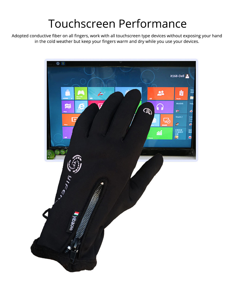 Winter Gloves Warm Waterproof Anti-wind Touch Screen Gloves for Running Hiking Climbing Skiing for Men Women 5