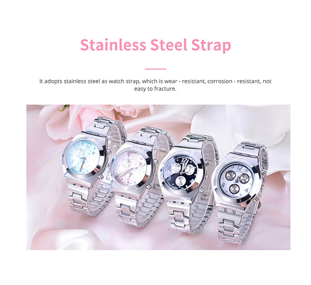 Diamond-encrusted Watch for Lady Luminous Hands Watch for Traveling Business Waterproof 6