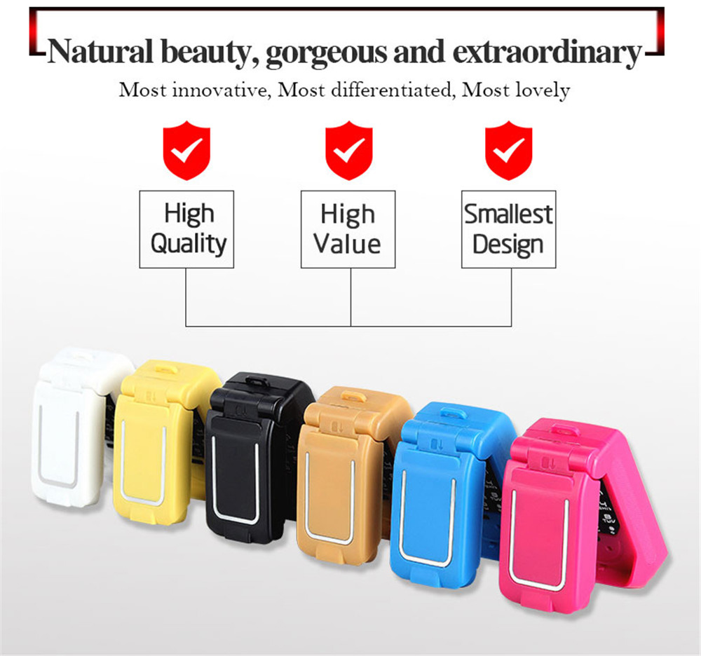 Tinkleo J9 Mini Bluetooth Flip Phone with 0.66 Inch Screen HD Screen FM MP3 Clock Magic Voice  6