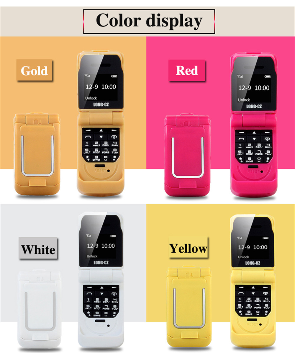 Tinkleo J9 Mini Bluetooth Flip Phone with 0.66 Inch Screen HD Screen FM MP3 Clock Magic Voice  33