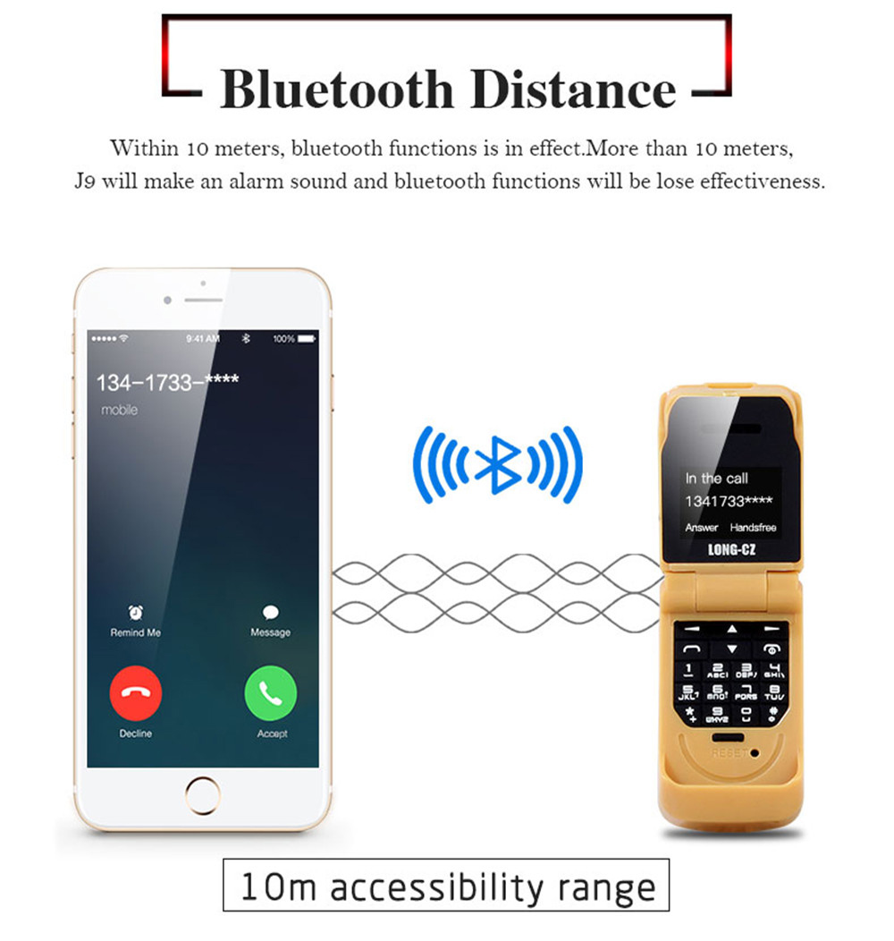Tinkleo J9 Mini Bluetooth Flip Phone with 0.66 Inch Screen HD Screen FM MP3 Clock Magic Voice  26