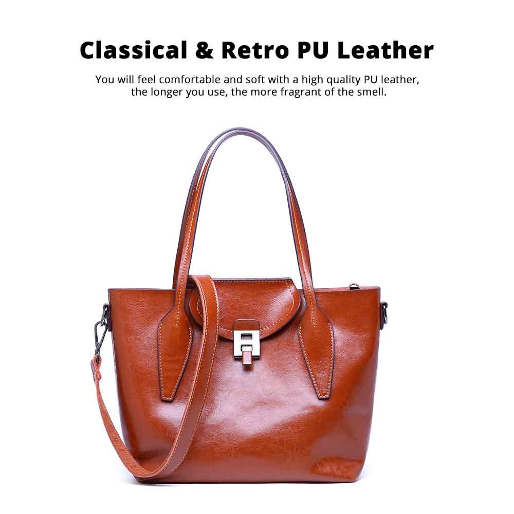 2019 Fashion Casual Women Large Bags Retro Hand-Held Bag Ladies Single Shoulder Classical Female Handbags 1