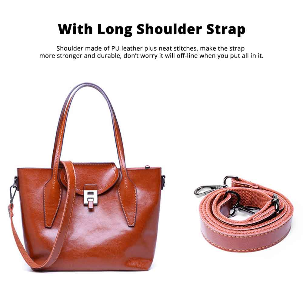 2019 Fashion Casual Women Large Bags Retro Hand-Held Bag Ladies Single Shoulder Classical Female Handbags 4