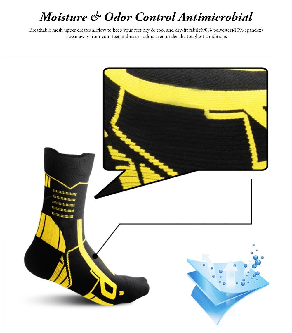 Sports Sucks for Hiking, Cycling, Running, Anti-bacterial Sports Socks for Men Women Unisex Digital Printing Socks 2