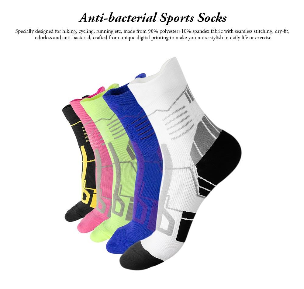 Sports Sucks for Hiking, Cycling, Running, Anti-bacterial Sports Socks for Men Women Unisex Digital Printing Socks 0