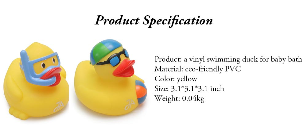 Yellow Duck Toy for Baby Bath, Early Education Swimming Duck Toy for Measuring Water Temperature 8