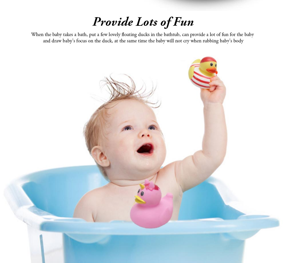 Mini Duck Bath Toy for Baby Shower Water Temperature Measurement Bathing Toy for Baby 3