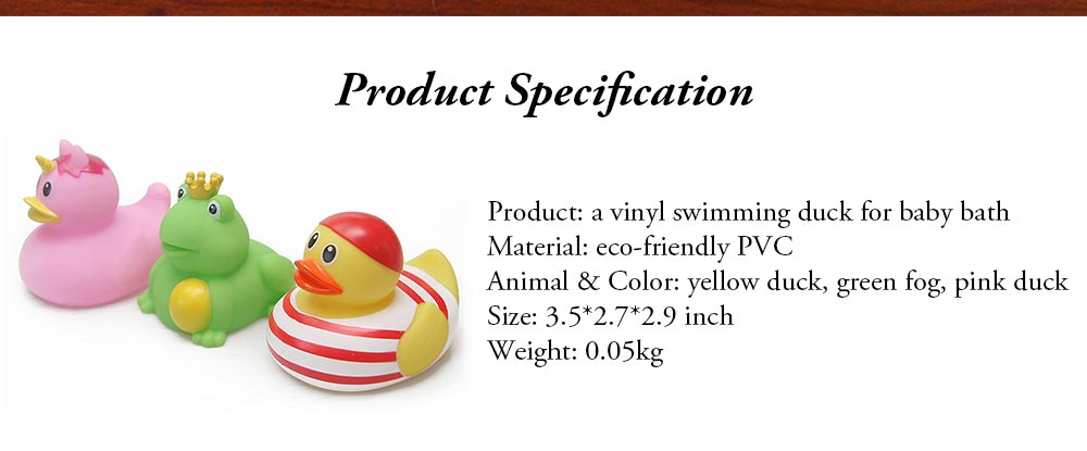 Mini Duck Bath Toy for Baby Shower Water Temperature Measurement Bathing Toy for Baby 7