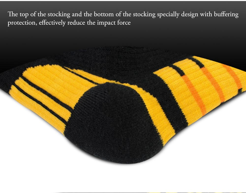 Breathable Ski Socks for Men, Cotton Terry Winter Socks with Towel Bottom Digital Printing Ultra-warm Sports Socks 4