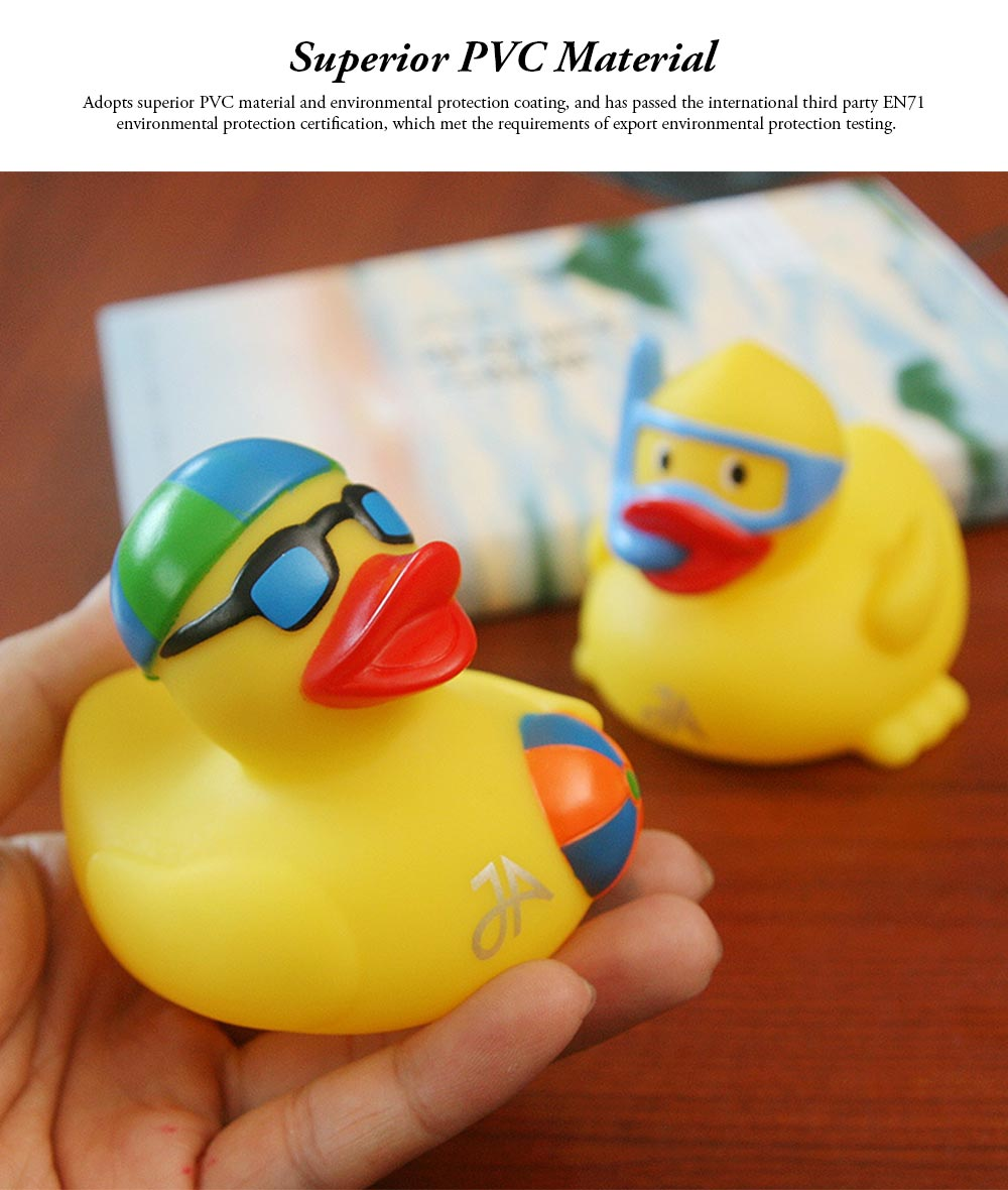 Yellow Duck Toy for Baby Bath, Early Education Swimming Duck Toy for Measuring Water Temperature 6