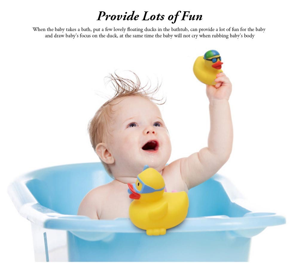 Yellow Duck Toy for Baby Bath, Early Education Swimming Duck Toy for Measuring Water Temperature 4