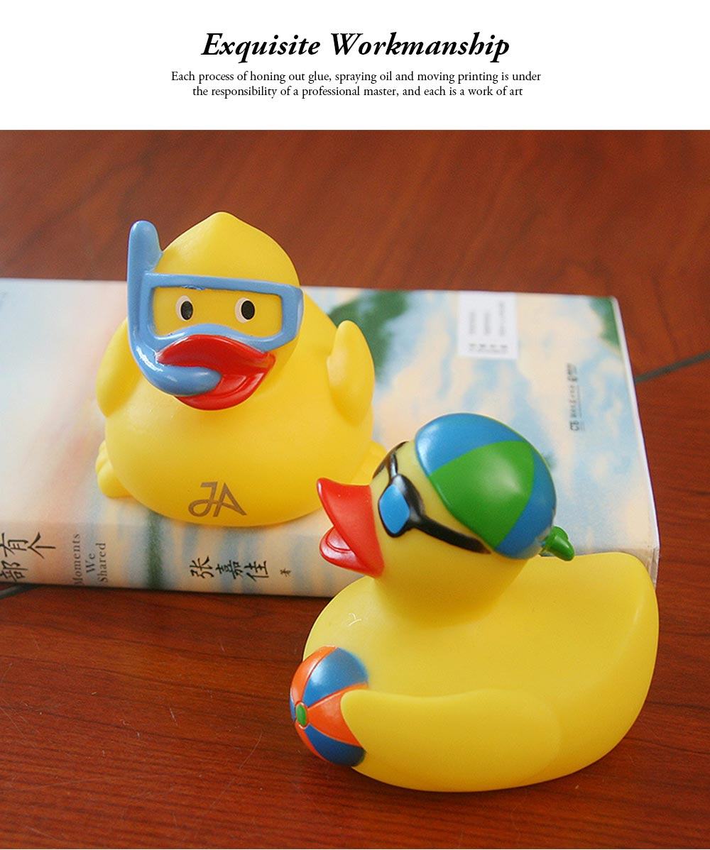 Yellow Duck Toy for Baby Bath, Early Education Swimming Duck Toy for Measuring Water Temperature 7