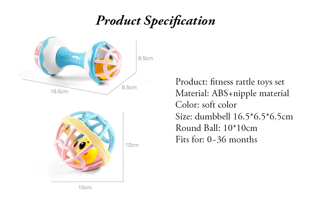 Fitness Rattle Balls Toys Set for Baby Early Education Baby Shaker Bells Toy Set Toddler Infant Essential Rattles Toys Set 10