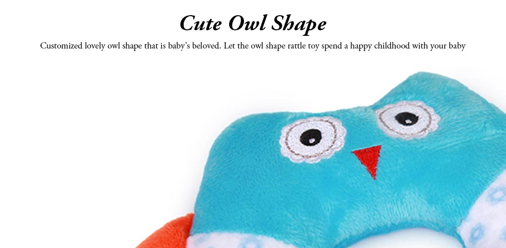 Cute Owl Baby Rattle Toy for Early Education, Audio-visual Touch Thinking Training Rattle Toy Baby Shaker Bell Toys 1