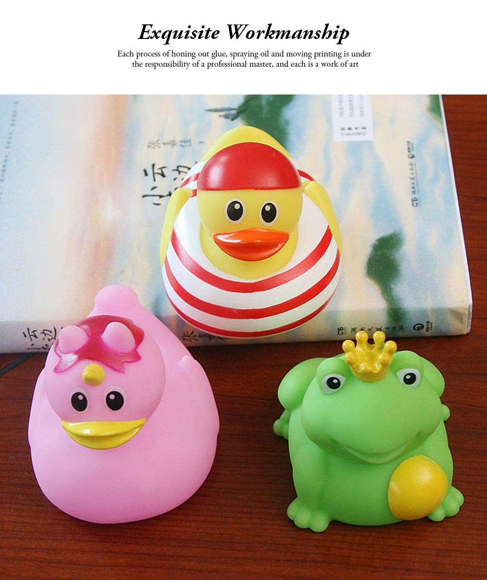 Mini Duck Bath Toy for Baby Shower Water Temperature Measurement Bathing Toy for Baby 6