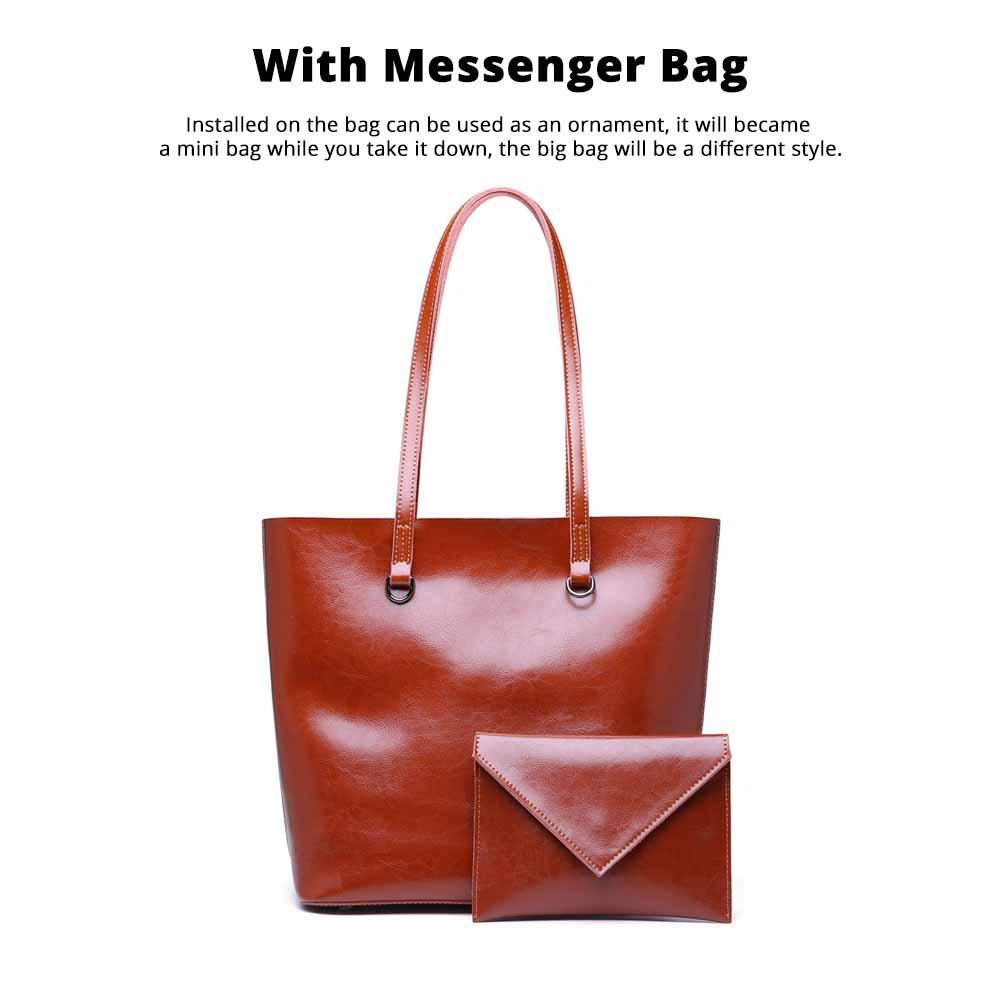 Female Bucket Bags Women Fashion Casual Single Shoulder Bags Ladies Large Bag with Mini Handbags 2020 3