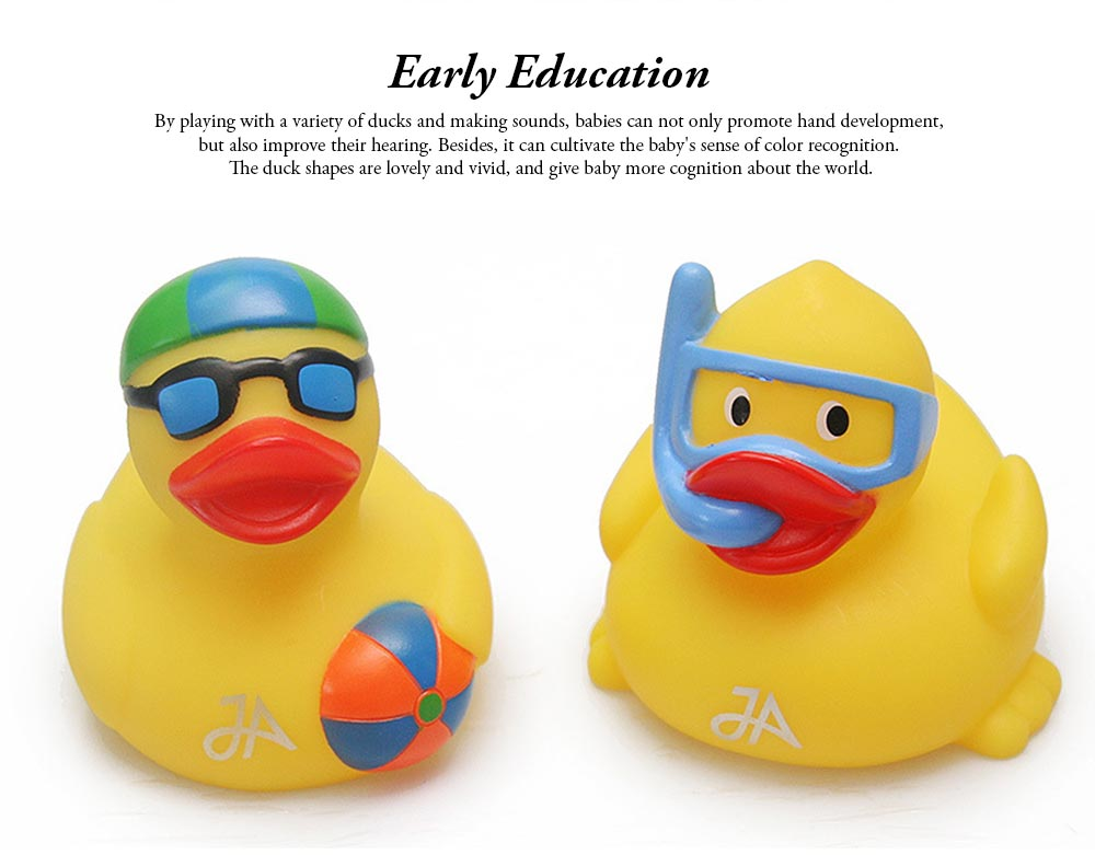 Yellow Duck Toy for Baby Bath, Early Education Swimming Duck Toy for Measuring Water Temperature 5