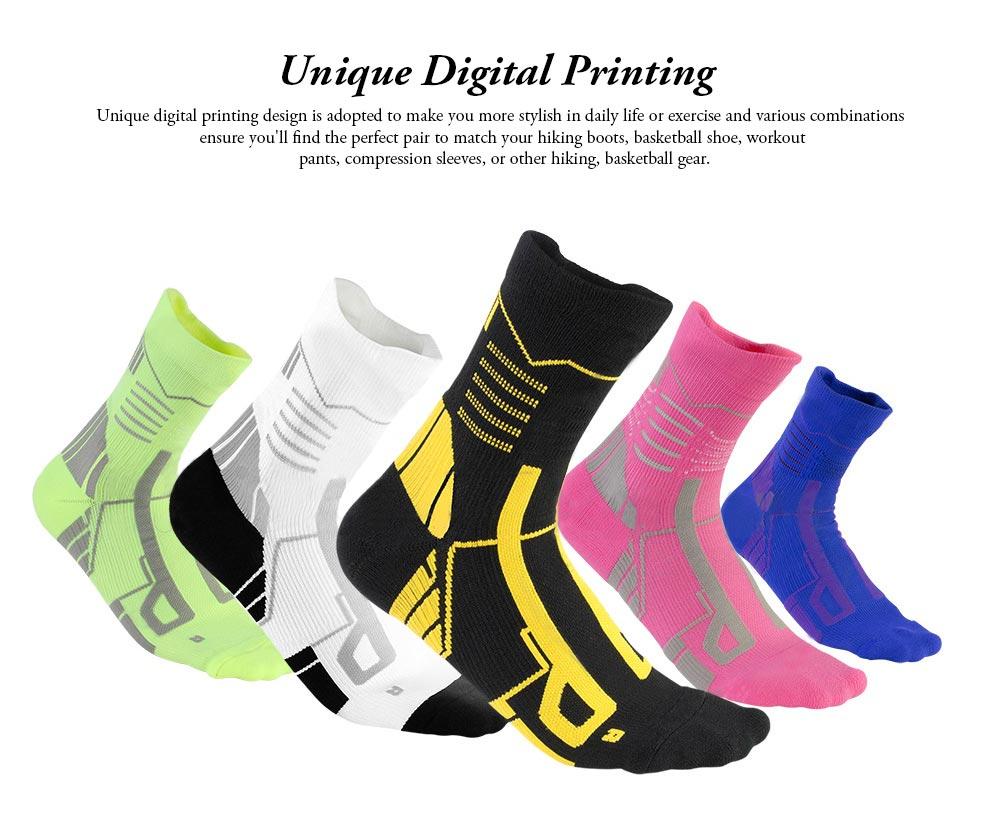 Sports Sucks for Hiking, Cycling, Running, Anti-bacterial Sports Socks for Men Women Unisex Digital Printing Socks 1