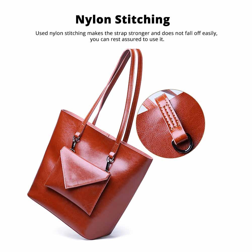 Female Bucket Bags Women Fashion Casual Single Shoulder Bags Ladies Large Bag with Mini Handbags 2020 4