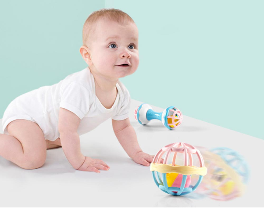 Fitness Rattle Balls Toys Set for Baby Early Education Baby Shaker Bells Toy Set Toddler Infant Essential Rattles Toys Set 6