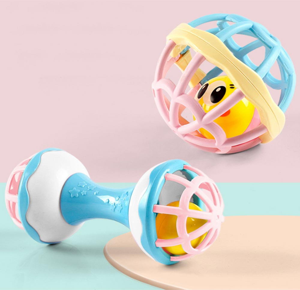 Fitness Rattle Balls Toys Set for Baby Early Education Baby Shaker Bells Toy Set Toddler Infant Essential Rattles Toys Set 1