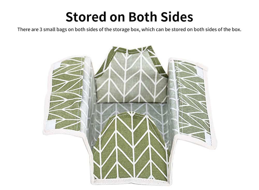 Cotton Linen Paper Towel Box, Garden Wind Multifunctional Paper Towel Storage Container, with Waterproof Layer Design 5