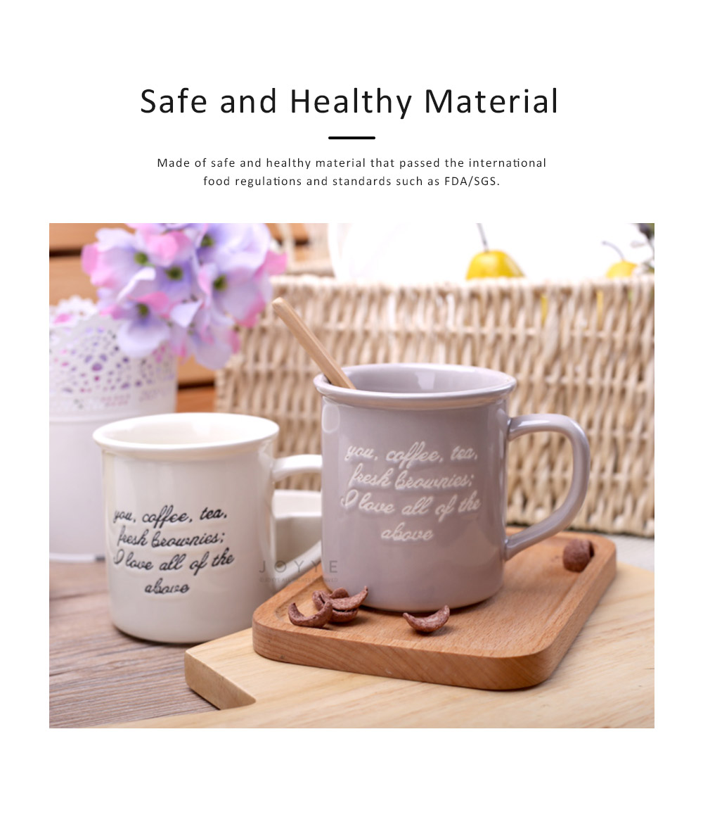 2 Pack Ceramic Mug Cup with Glaze for Tea, Milk, Coffee, Water, Breakfast Cup for Cereal, Water Mug with Big Capacity 5
