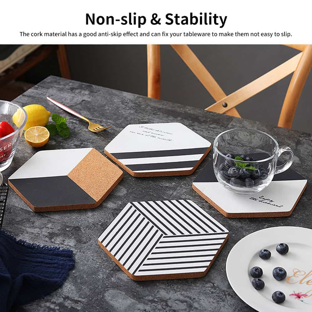 Northern Europe Creative Heat Insulation Mat Pot Holder Cork Mat Heat Resistant Anti-scald for Household Tableware Place Mat 3