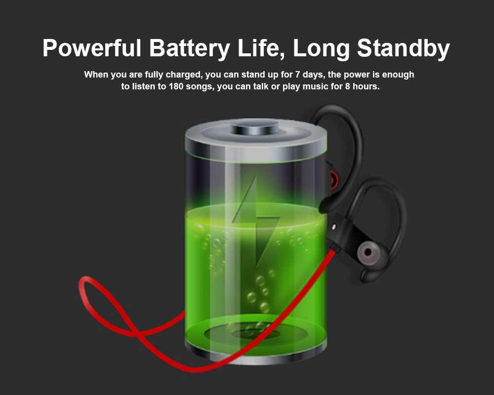 New U8 Wireless Bluetooth Headset, Hanging Ear Running Universal Headphone, Waterproof Earphone 3