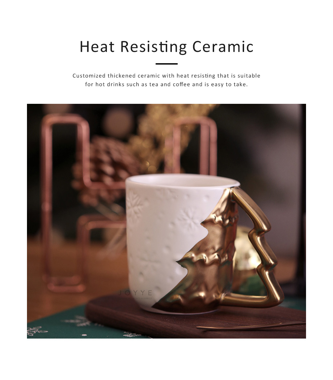 Ceramic Mug Cup with Glaze for Tea, Milk, Coffee, Water, Decoration Cup for Christmas, Festivals, Cartoon Water Mug 5