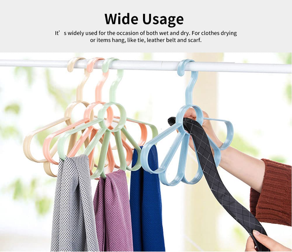 Multifunctional Tie and Scarf Hanger Plastic Fan-shaped for Wardrobe, Home Dormitory Essential Clothes Hanger 3