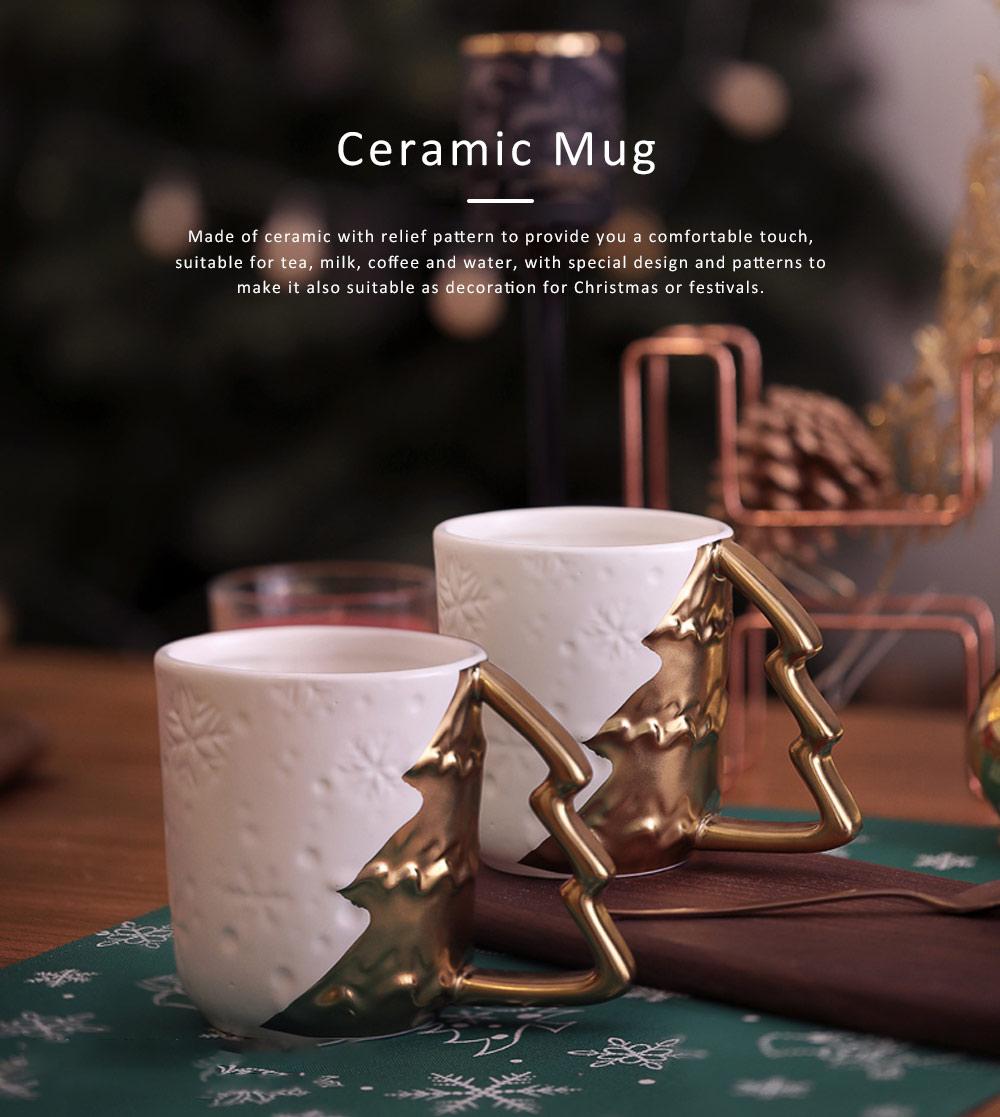 Ceramic Mug Cup with Glaze for Tea, Milk, Coffee, Water, Decoration Cup for Christmas, Festivals, Cartoon Water Mug 0