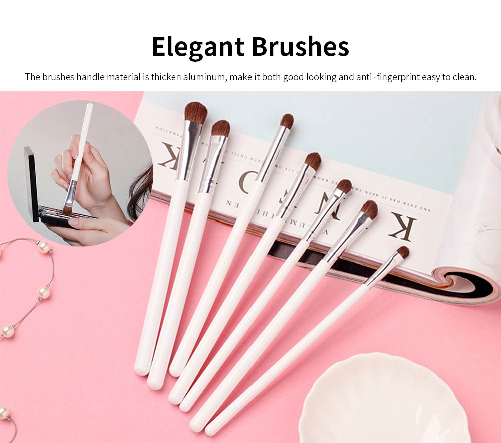 7 pcs Makeup Brushes Set Soft Cosmetic Brush Tool High Quality Animal Hair 2