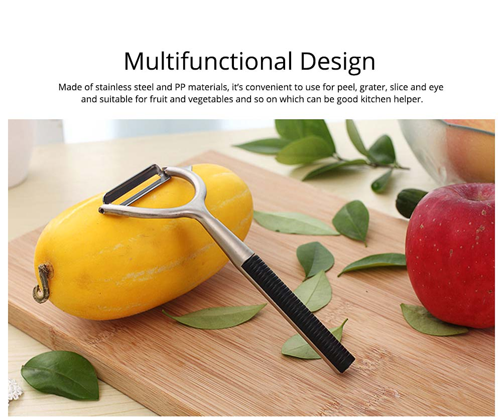 Zinc Alloy Multifunctional Peeler Knife, Portable Vegetable Potato Fruit Peeler, Kitchen Cut Tools 1