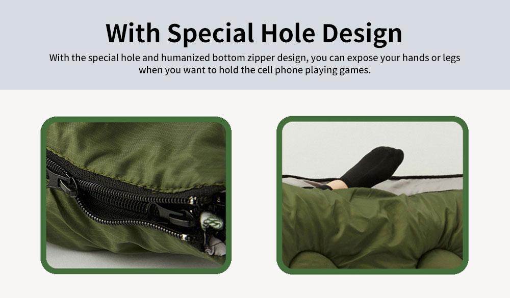 Outdoor Waterproof Sleeping Bag, Lightweight Flannel Warm Sleeping Bag for Travel 4 Seasons 6