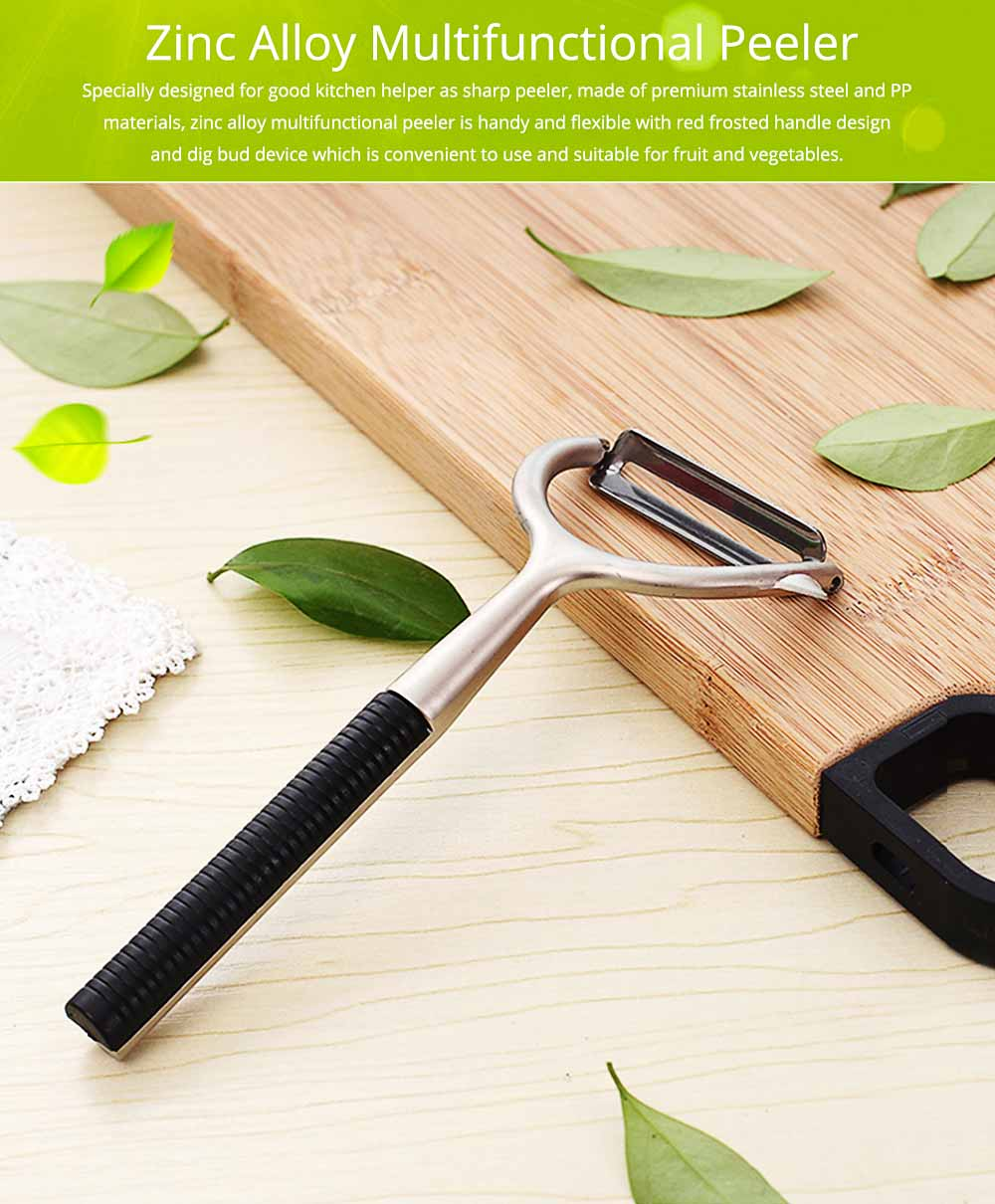 Zinc Alloy Multifunctional Peeler Knife, Portable Vegetable Potato Fruit Peeler, Kitchen Cut Tools 0
