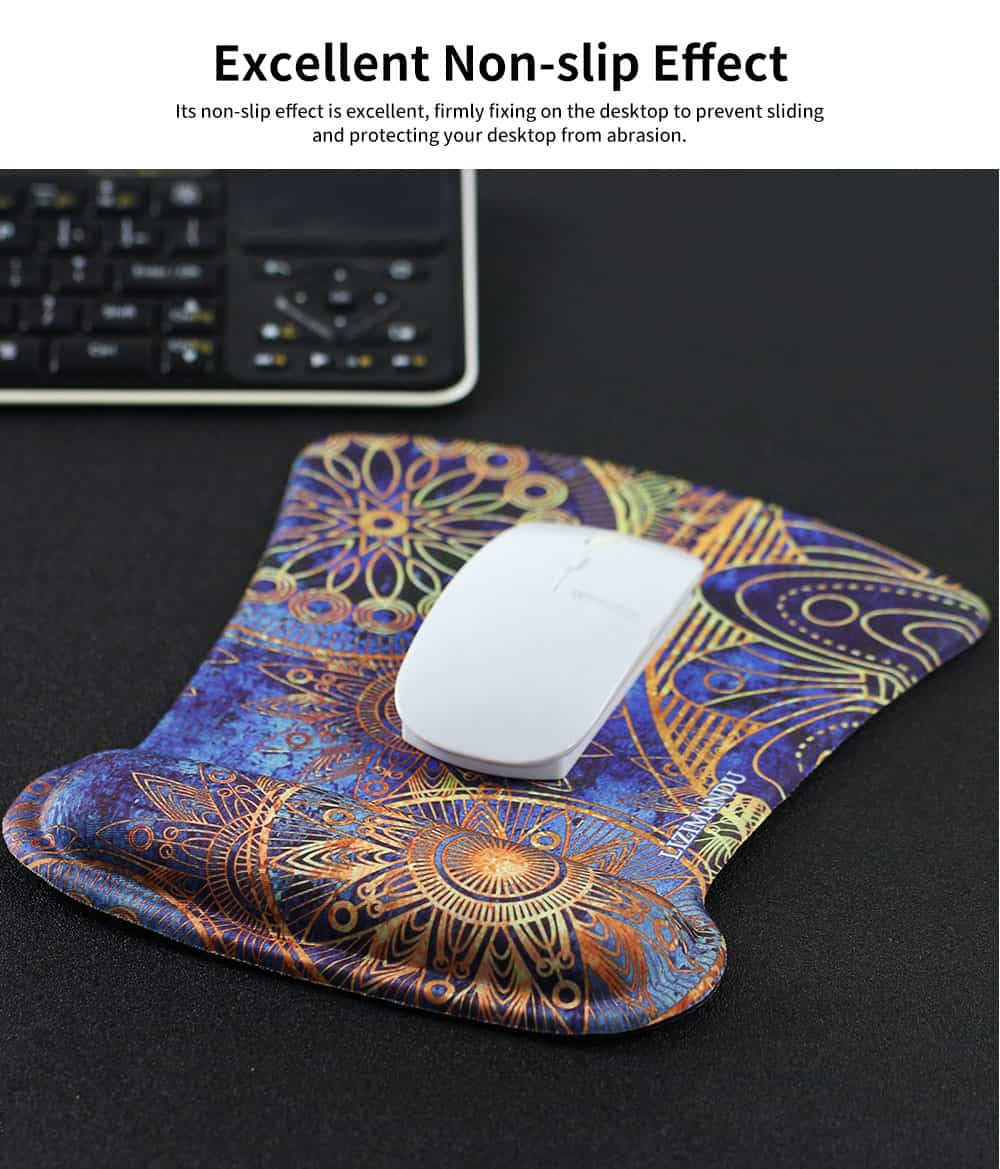 Selected Memory Cotton Wrist Mouse Pad, Raising Wrist Mouse Pad for Game Computer Office Home 4