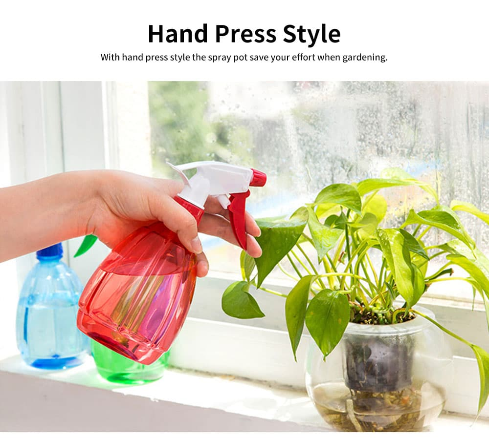 Hand Press Small Plastic Spray Bottle for Home, School, Office Candy Color Gardening Tool Watering Can 2