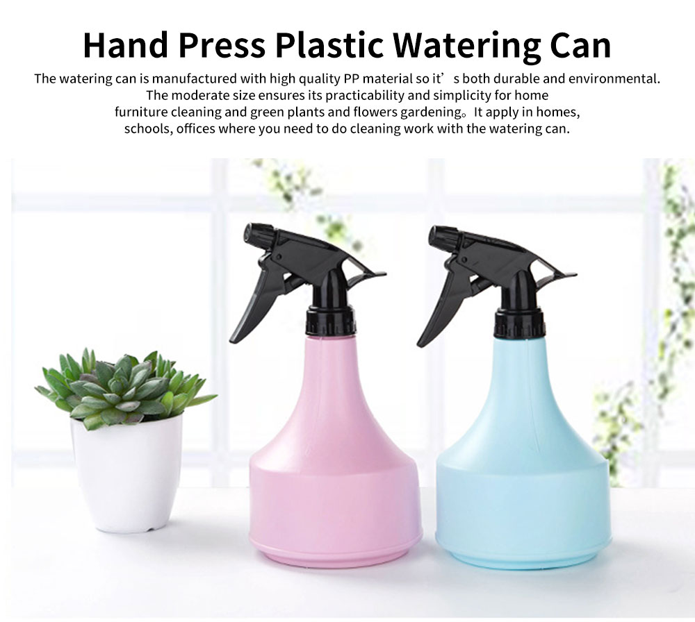 Hand Press Plastic Watering Can for Home and Garden, Gardening Tools Essential Spray Bottle 0
