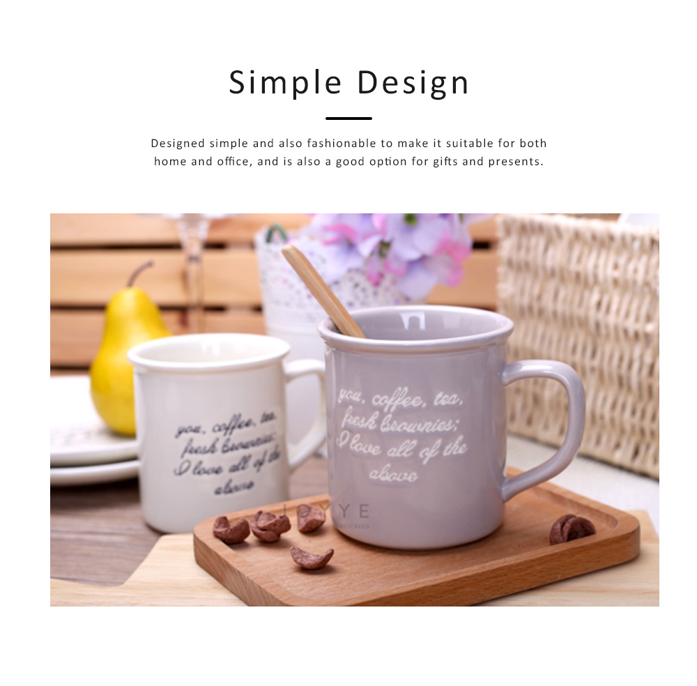2 Pack Ceramic Mug Cup with Glaze for Tea, Milk, Coffee, Water, Breakfast Cup for Cereal, Water Mug with Big Capacity 1