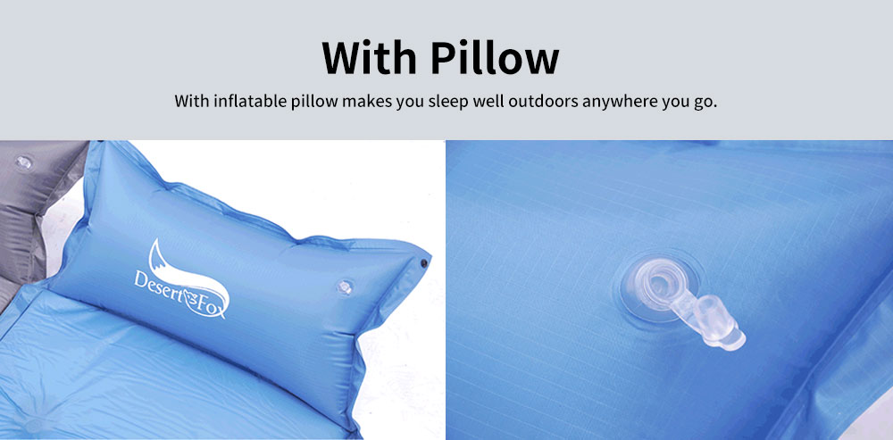 Automatic Inflatable Sleeping Bag with Pillows, Picnic Camping Essential Sleeping Bed 3