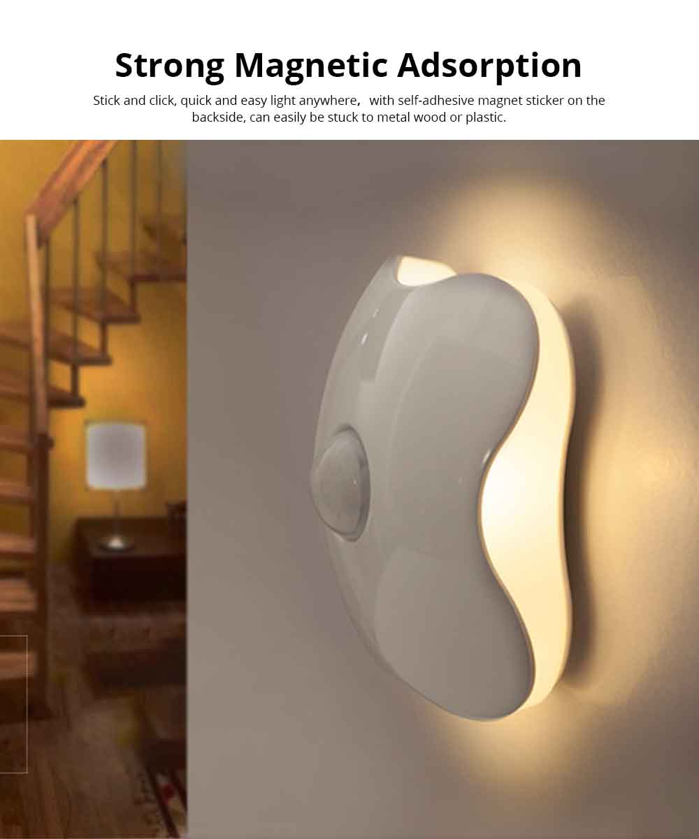 Intelligent Induction Night light USB Charged Touch Sensor LED Cabinet Lights, Magnet Stick-on Closet Light, Activated Night Light for Bedroom, Stairs Bar, Car, Kitchen, Bathroom 1