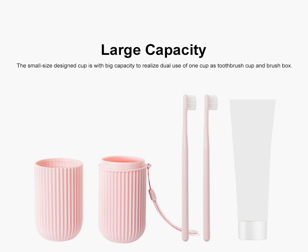 Simple Style Cup for Household or Travel Portable Tooth-brushing Mug Travel Set Couple Cup Household Toothbrush Storage Box 3