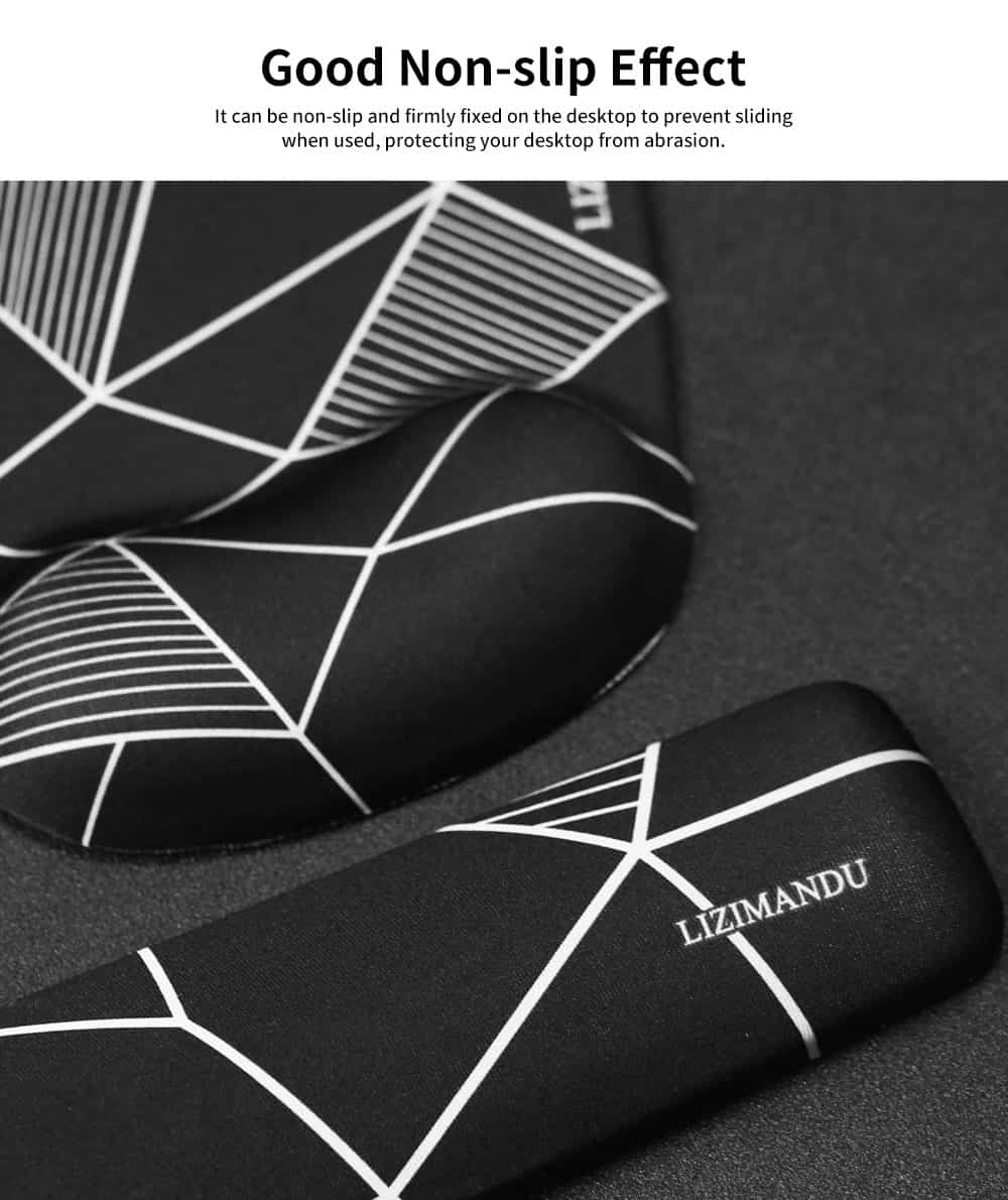 Bracers Mouse Pad, High Grade Memory Cotton Wrist Keyboard Pad, with Colorful Unique Pattern 4