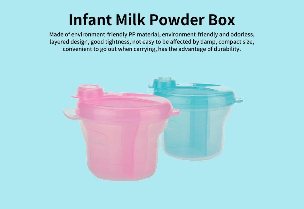Infant Milk Powder Box, Children's Revolving Milk Powder Box, Three-Layer Snack Storage Box 0
