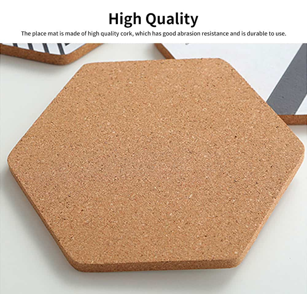 Northern Europe Creative Heat Insulation Mat Pot Holder Cork Mat Heat Resistant Anti-scald for Household Tableware Place Mat 1