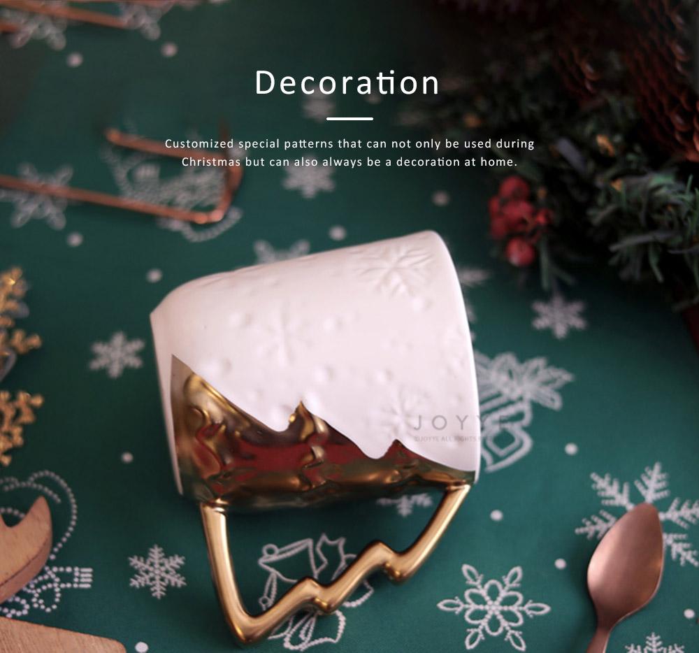Ceramic Mug Cup with Glaze for Tea, Milk, Coffee, Water, Decoration Cup for Christmas, Festivals, Cartoon Water Mug 4