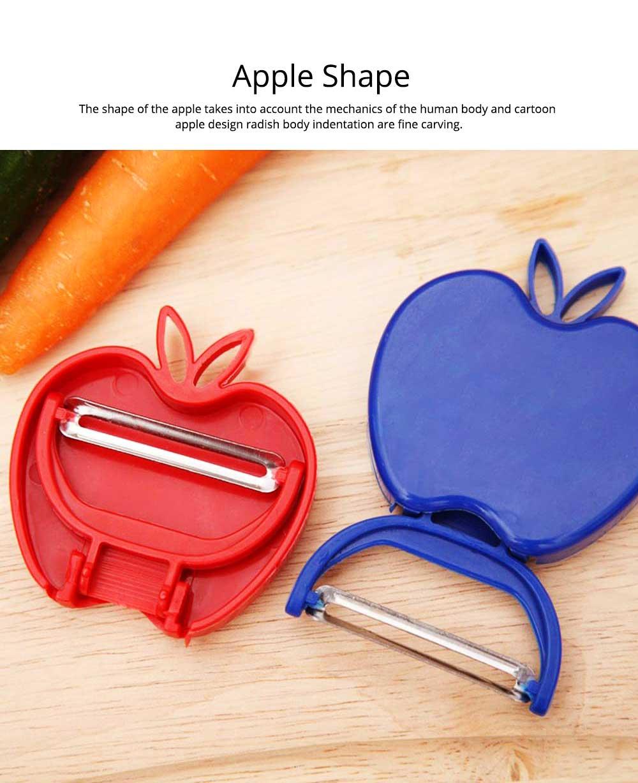 Multifunctional Foldable Peeler Knife with Apple Shape, Portable Vegetable Potato Fruit Peeler, Kitchen Cut Tools 2